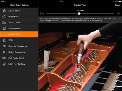 Il suono di un pianoforte a coda da concerto a portata di mano